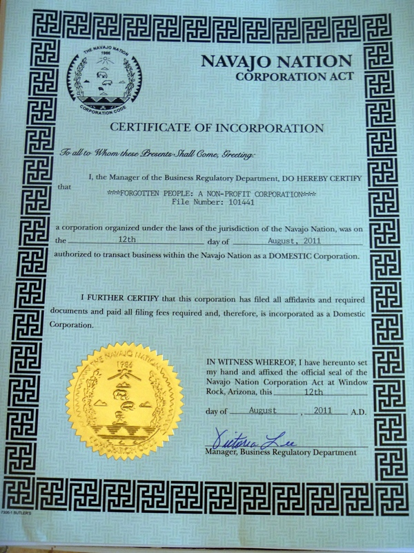 FP Certificate of Incorporation 1