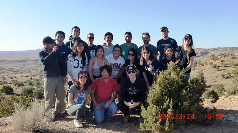 Group photo while working in Black Mesa Glenna Begay home